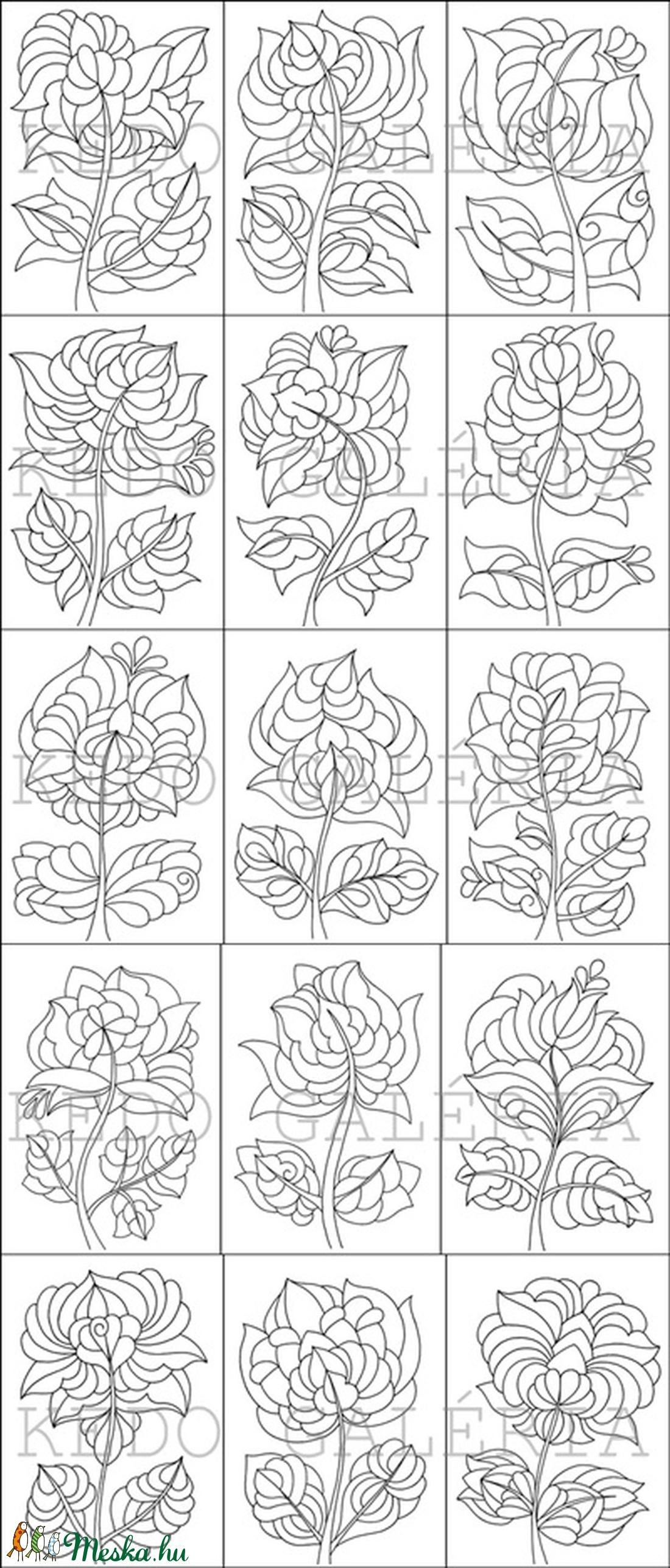 Táncoló tulipánok- nyomtatható tulipános sablon füzet (kedo) - Meska.hu