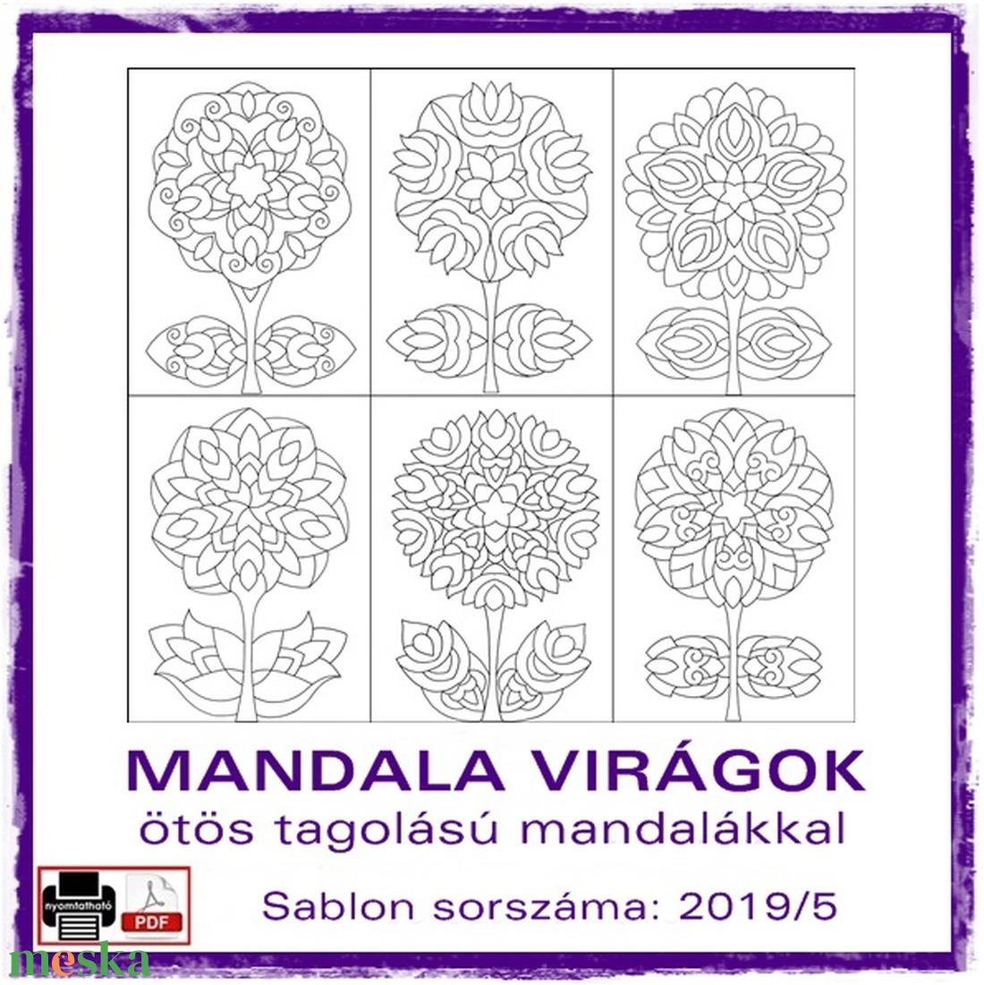 Mandala Virágok 2019/5 - otthon & lakás - dekoráció - mandala - Meska.hu