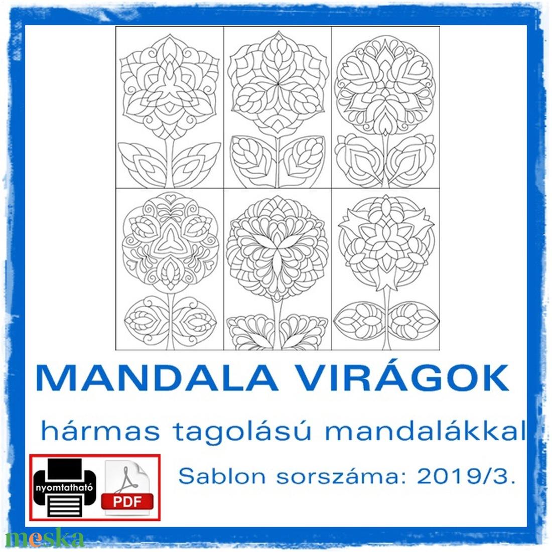 Mandala Virágok 2019/3 (kedo) - Meska.hu