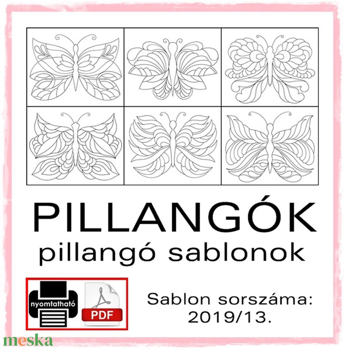 Pillangó sablon füzet 2019/13 (kedo) - Meska.hu