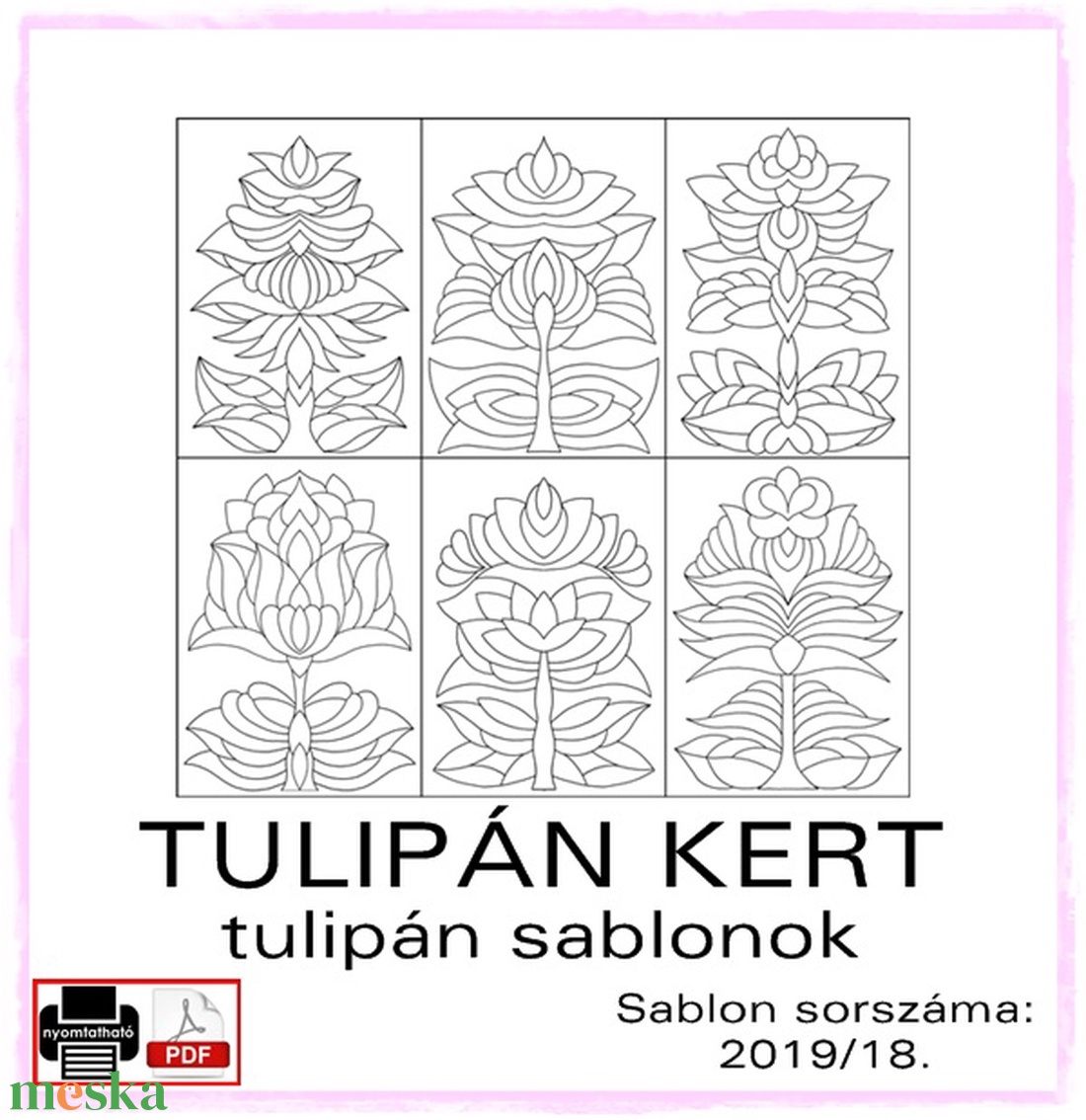 TulipánKert 2019/18 - Meska.hu