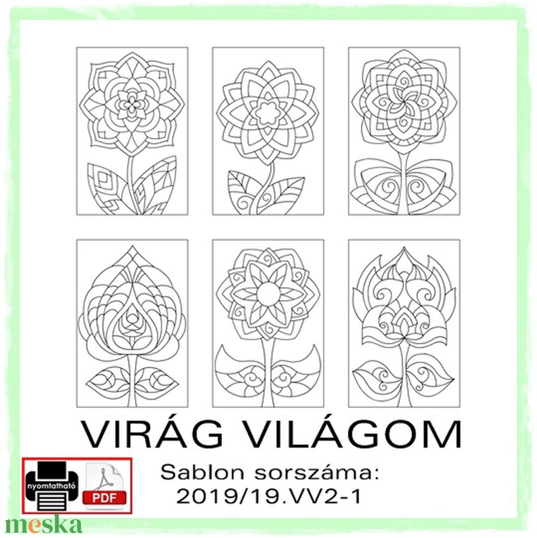 VIRÁG VILÁGOM 2019/19 - művészet - grafika & illusztráció - Meska.hu