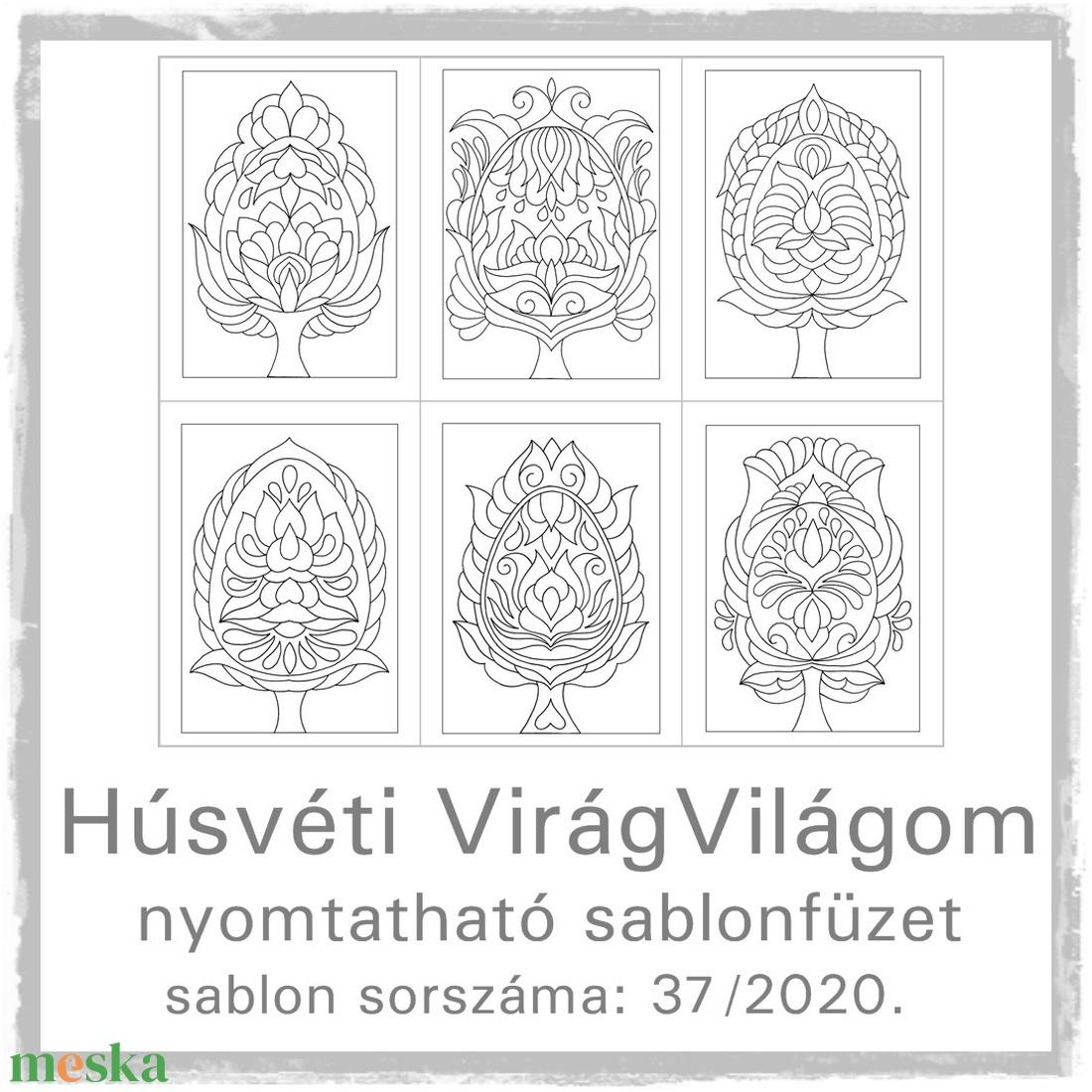 Húsvéti virág-világom 37.- nyomtatható tulipános sablon füzet - otthon & lakás - papír írószer - könyv - Meska.hu