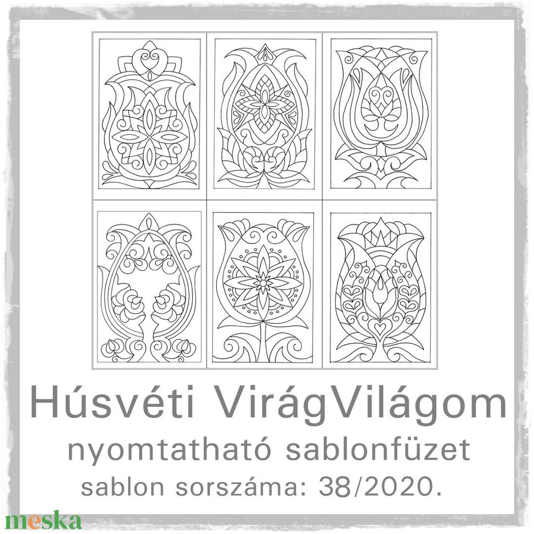 Húsvéti virág-világom 38.- nyomtatható tulipános sablon füzet (kedo) - Meska.hu