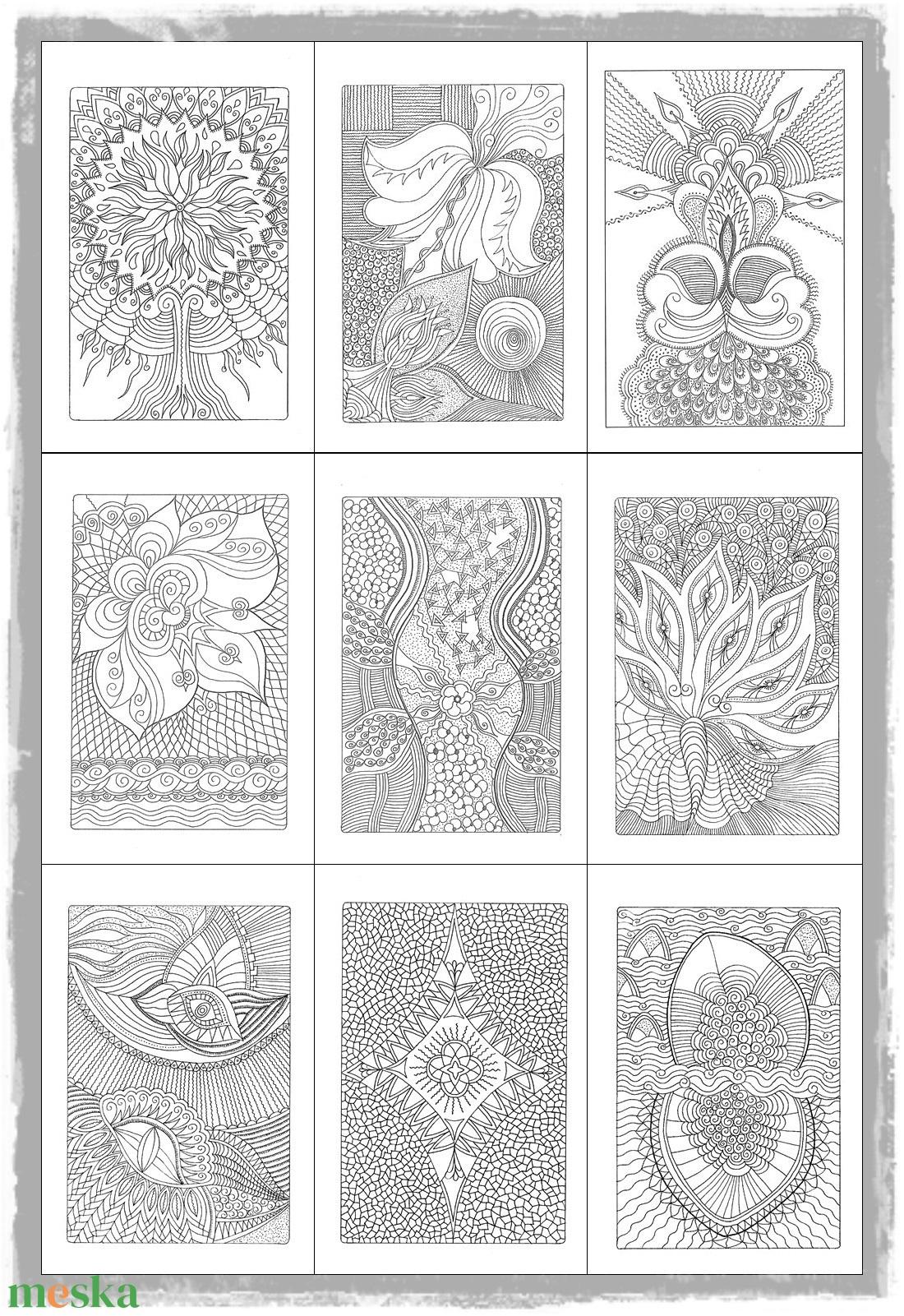 Színes Energiák - nyomtatható színező lapok - művészet - grafika & illusztráció - Meska.hu