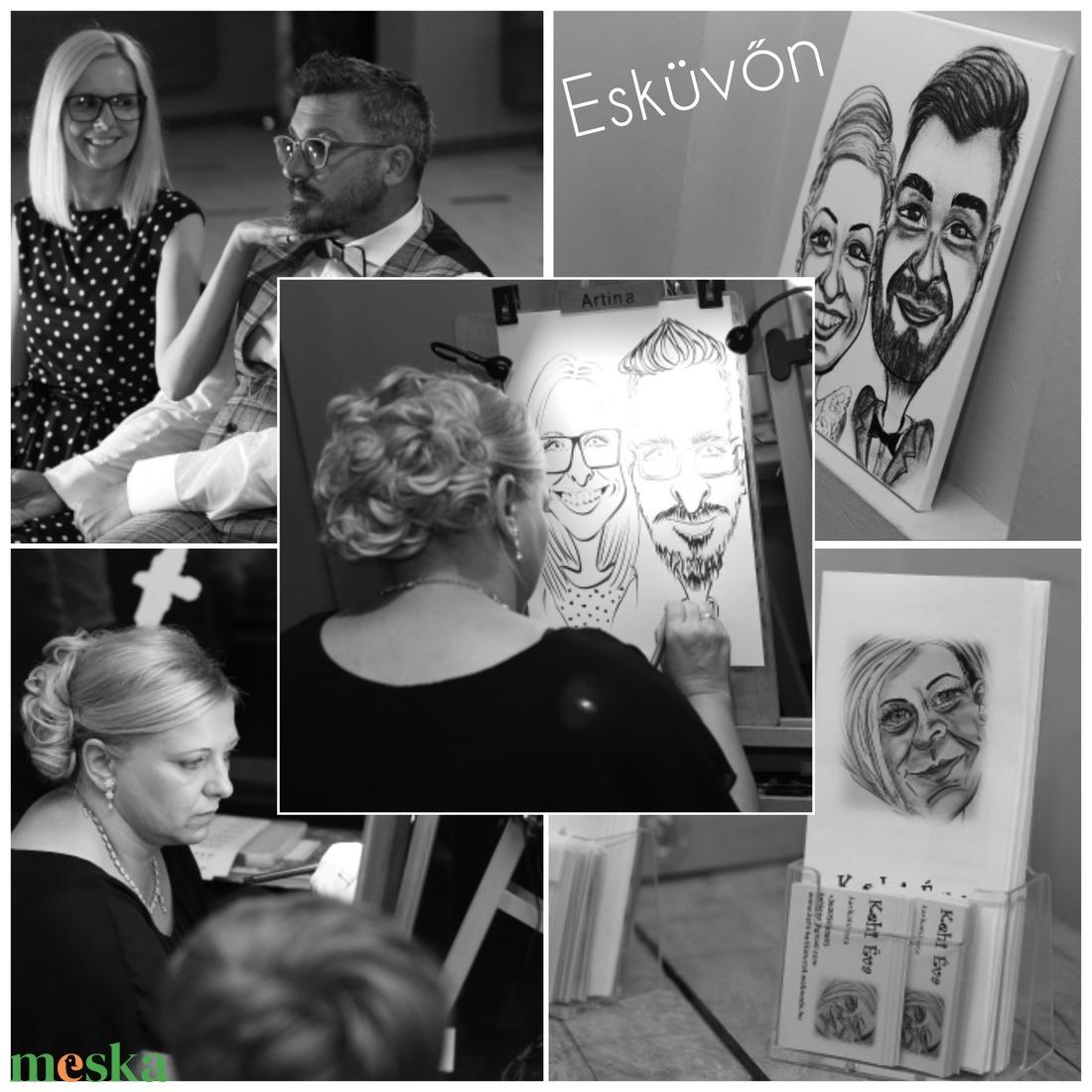 Élő karikatúra rajzolás esküvőn, rendezvényeken - Meska.hu