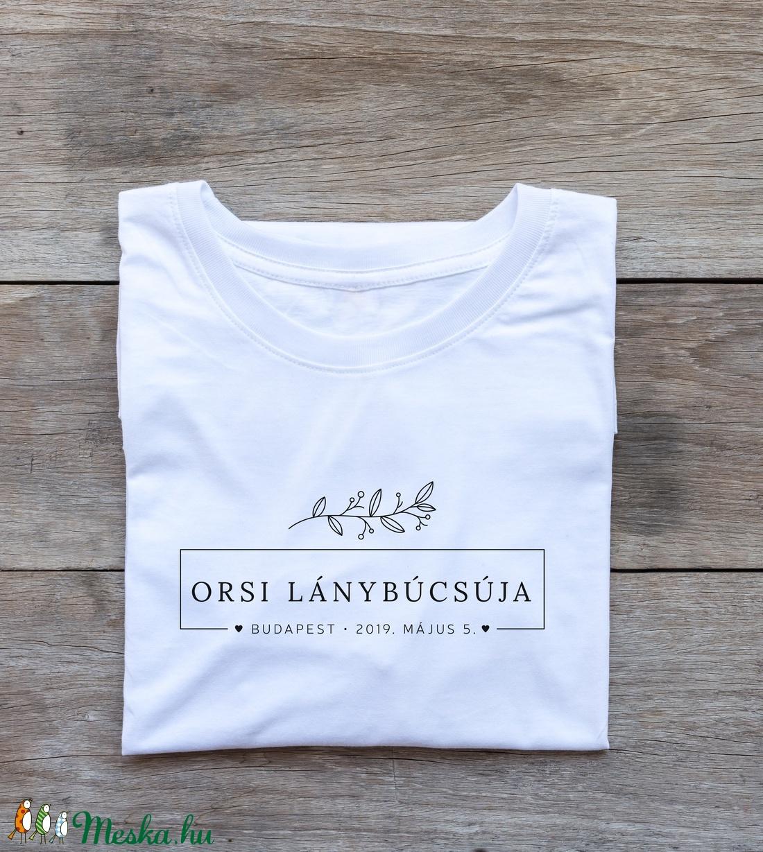 Lánybúcsú póló - Meska.hu