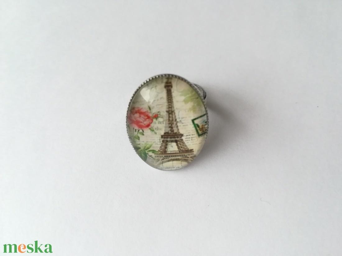 Eiffel torony gyűrű - ékszer - gyűrű - üveglencsés gyűrű - Meska.hu