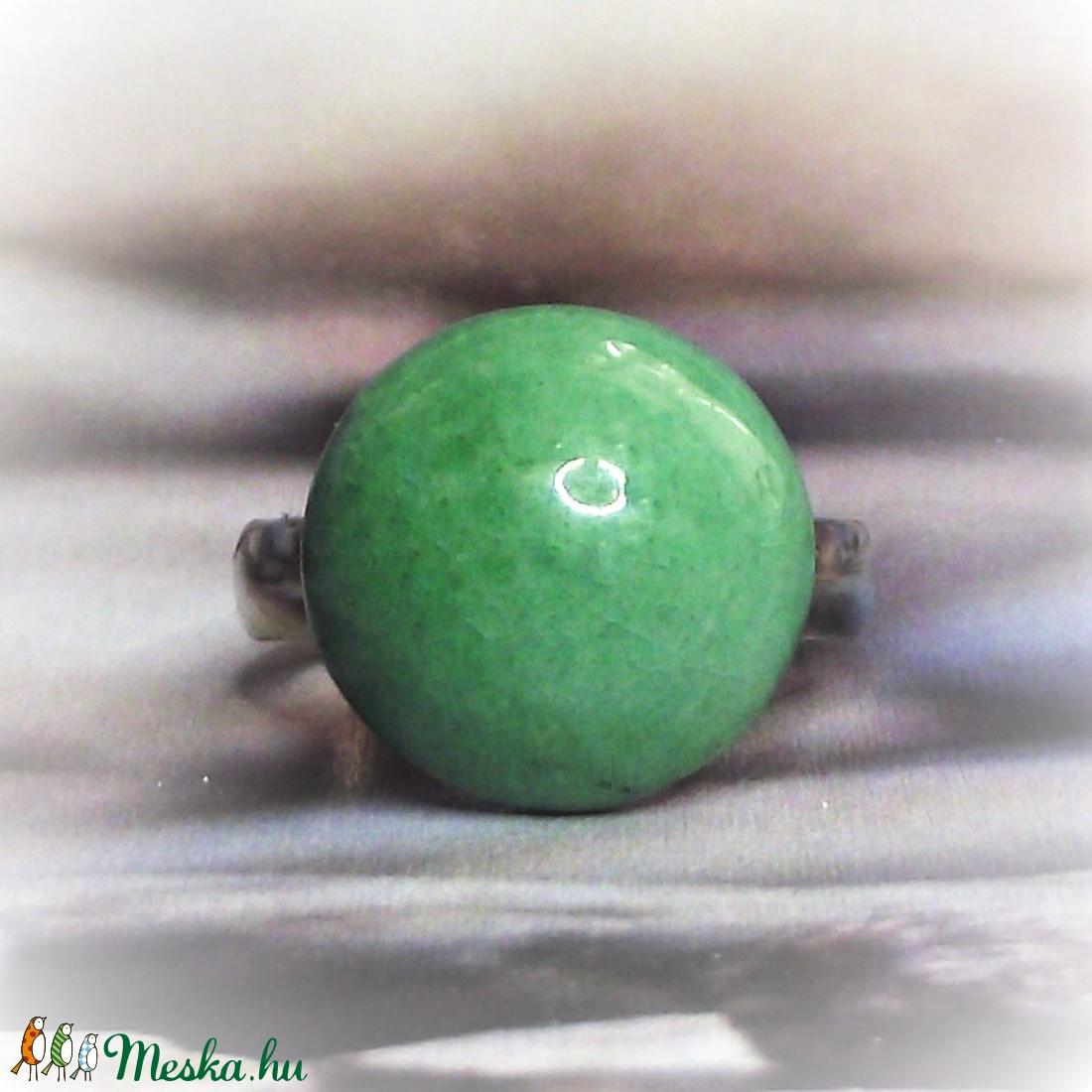 Pasztell zöld kerámia gyűrű kislányoknak Gyermeknapra - Gyermek ékszer - Gyermekgyűrű  - Meska.hu