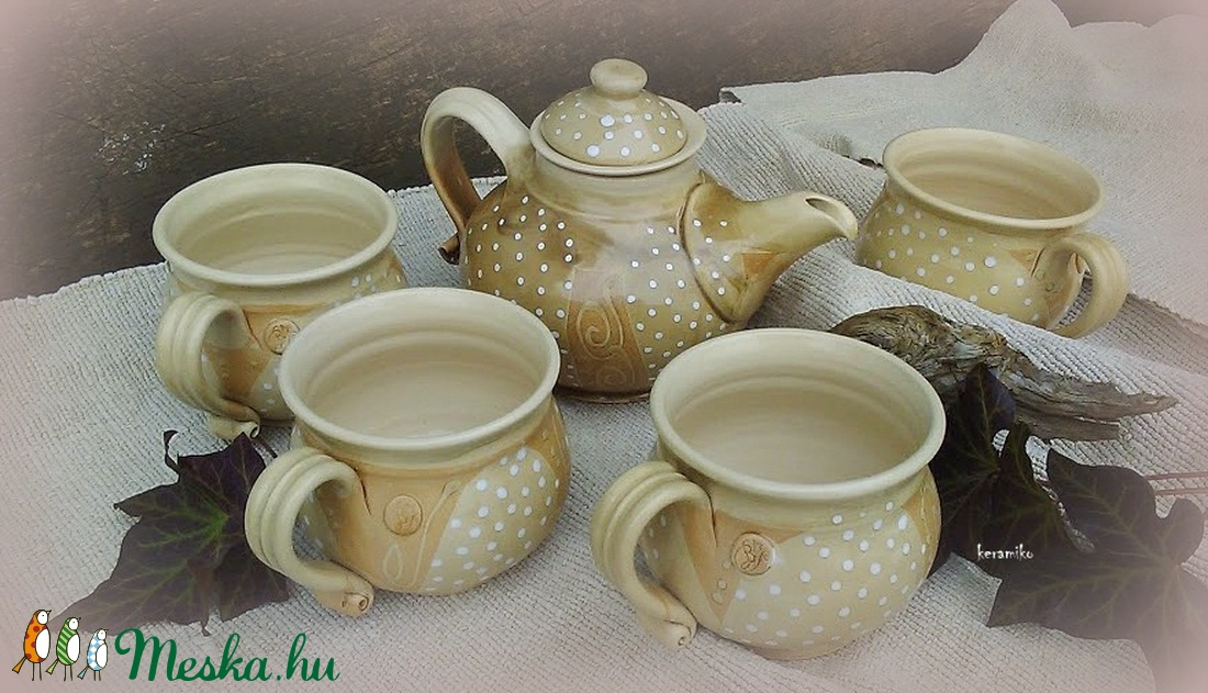 bögrék pöttyös reggelikhez (keramiko) - Meska.hu