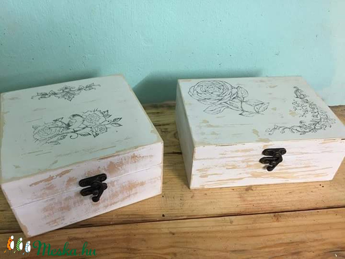 Vintage doboz (Kezmuveskucko) - Meska.hu