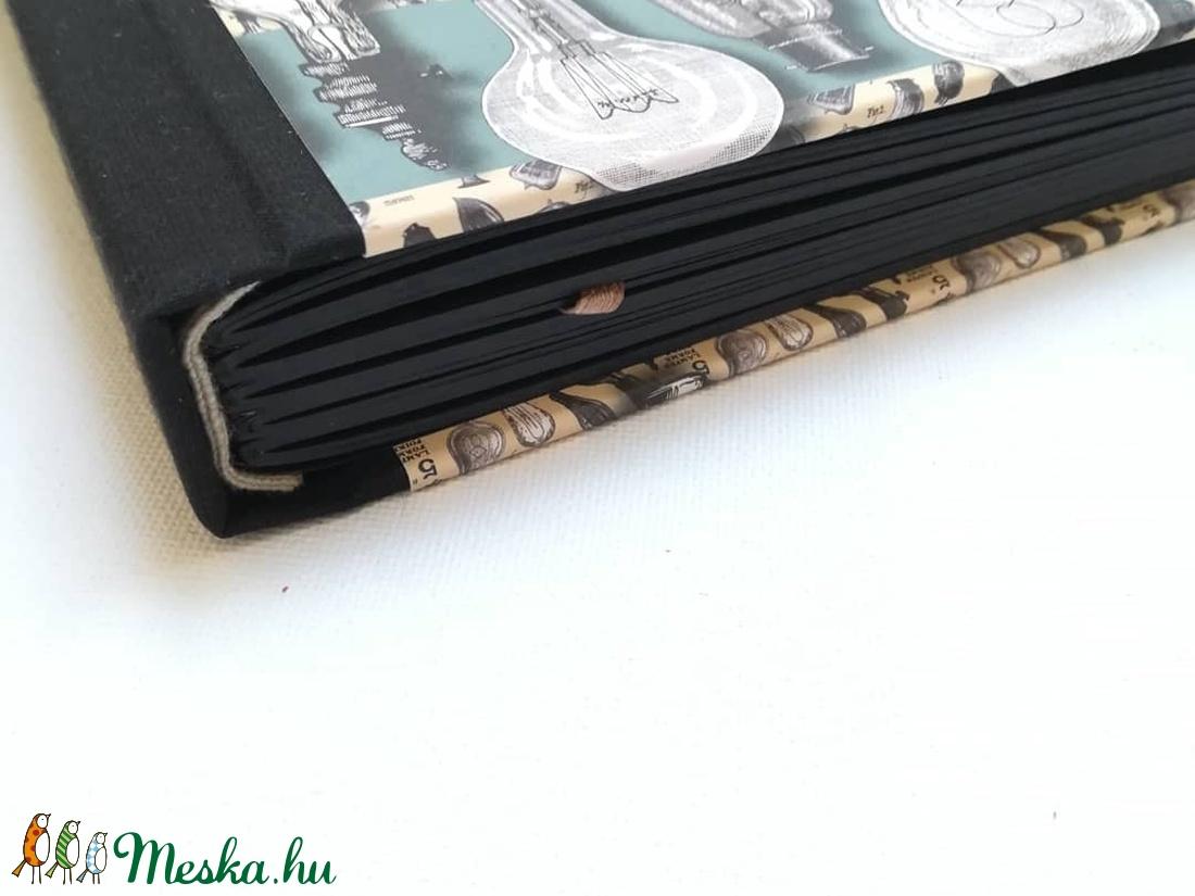 Steampunk stílusú scetchbook- fekete lapokkal - otthon & lakás - papír írószer - jegyzetfüzet & napló - Meska.hu