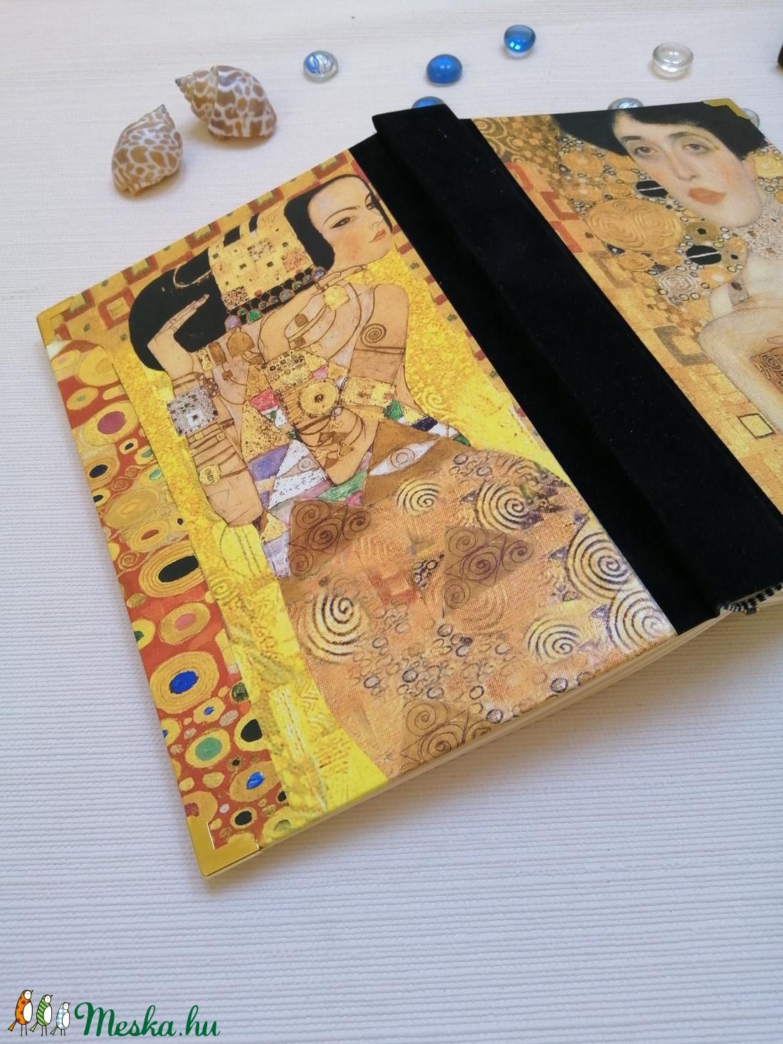 Klimt Hölgyei - Egyedi napló szecessziós stílusban - otthon & lakás - papír írószer - jegyzetfüzet & napló - Meska.hu