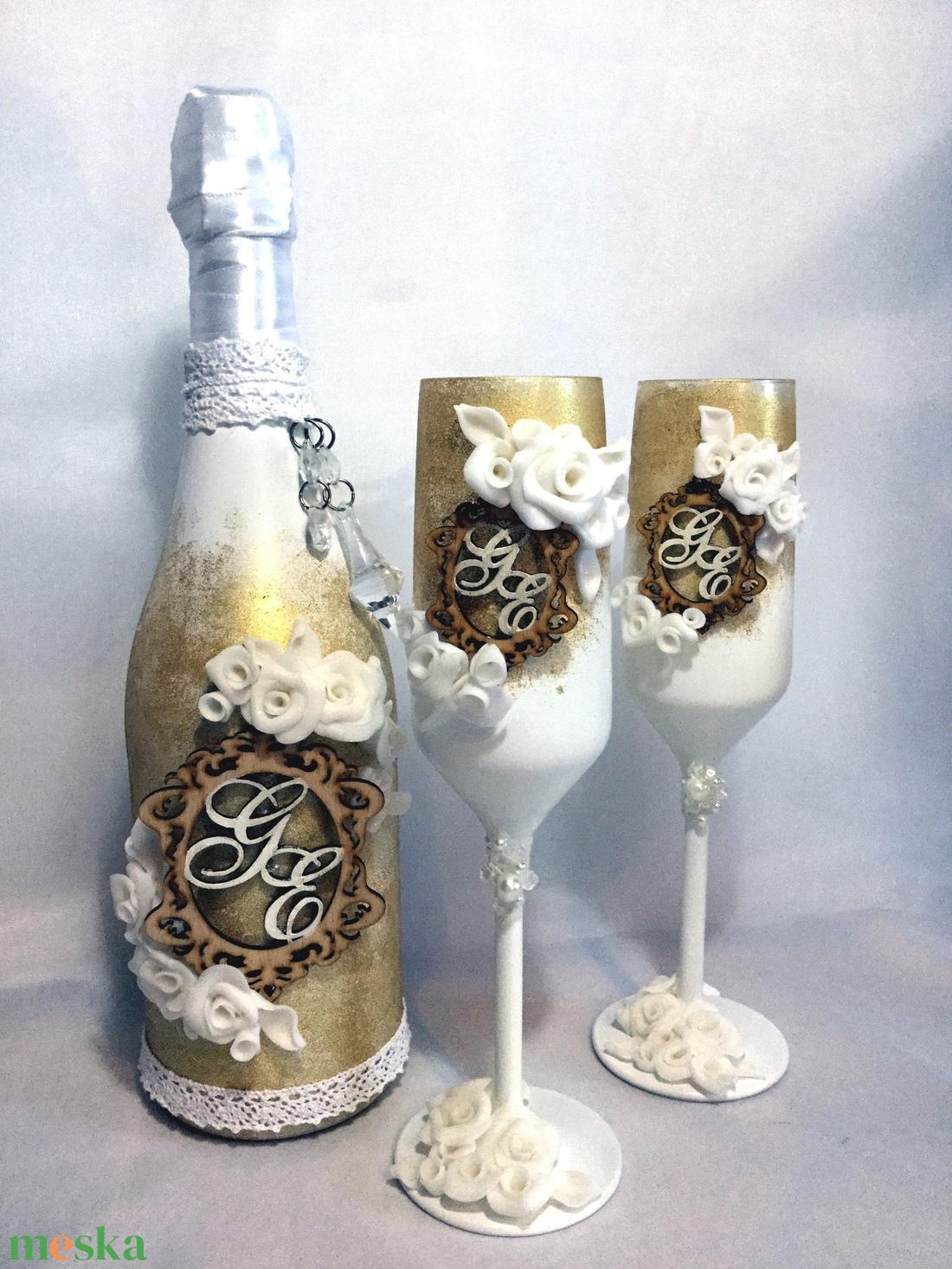 Gold roses szett (KicsinyCsodak) - Meska.hu