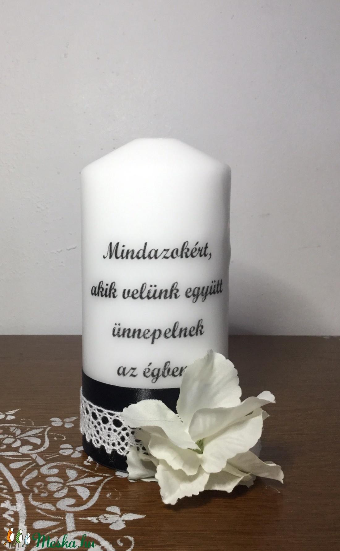 Emlék gyertya (KicsinyCsodak) - Meska.hu