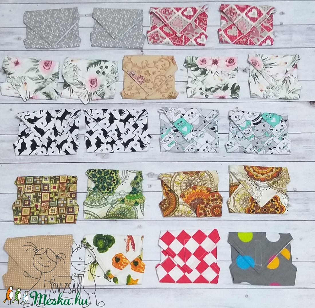 Textil szalvéta / újraszalvéta csomag, többféle minta - Meska.hu