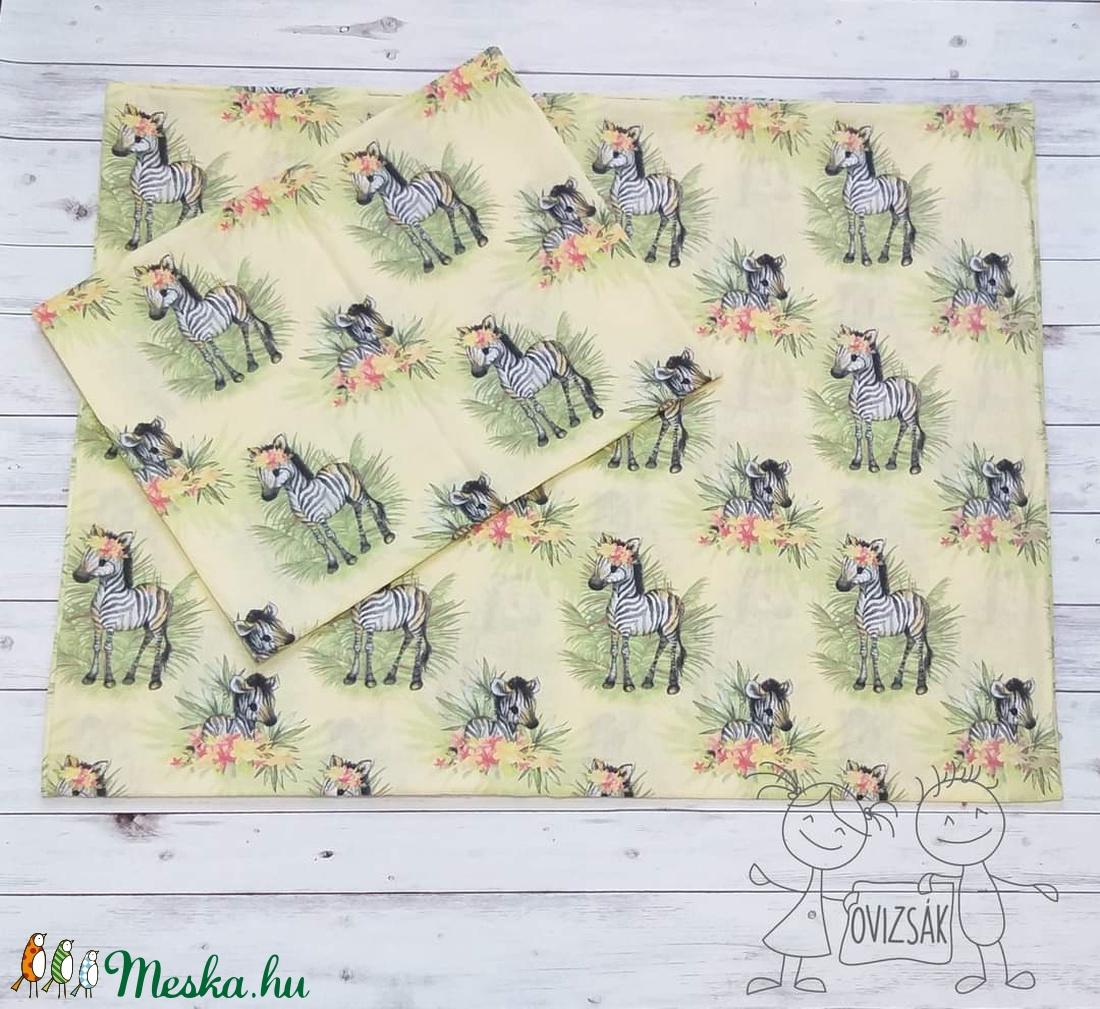 Zebra mintás ovis vagy kisgyermek ágyneműhuzat szett + ovizsák tornazsák szett - játék & gyerek - Meska.hu