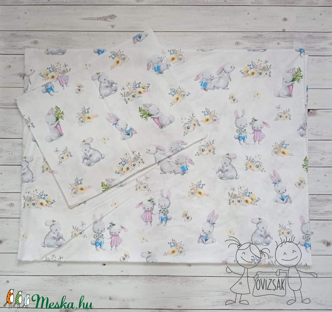Nyuszis ovis vagy kisgyermek ágyneműhuzat szett + ovizsák tornazsák szett - játék & gyerek - Meska.hu