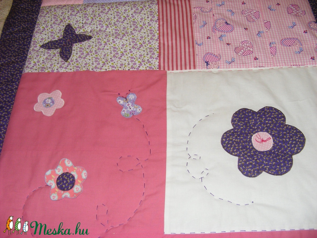 Tündéres patchwork takaró, falvédőnek is alkalmas - otthon & lakás - lakástextil - ágynemű - Meska.hu