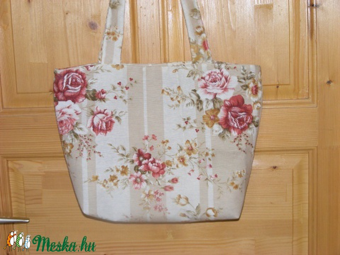 rózsás erős vászon táska (kincsesmomka) - Meska.hu 8e1e6cb423