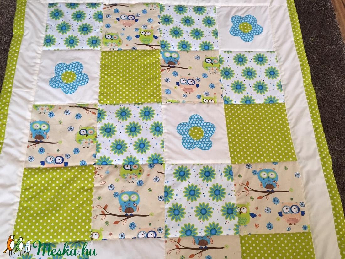 patchwork  takaró, bagoly mintás, falvédőnek is megfelel - otthon & lakás - lakástextil - takaró - Meska.hu