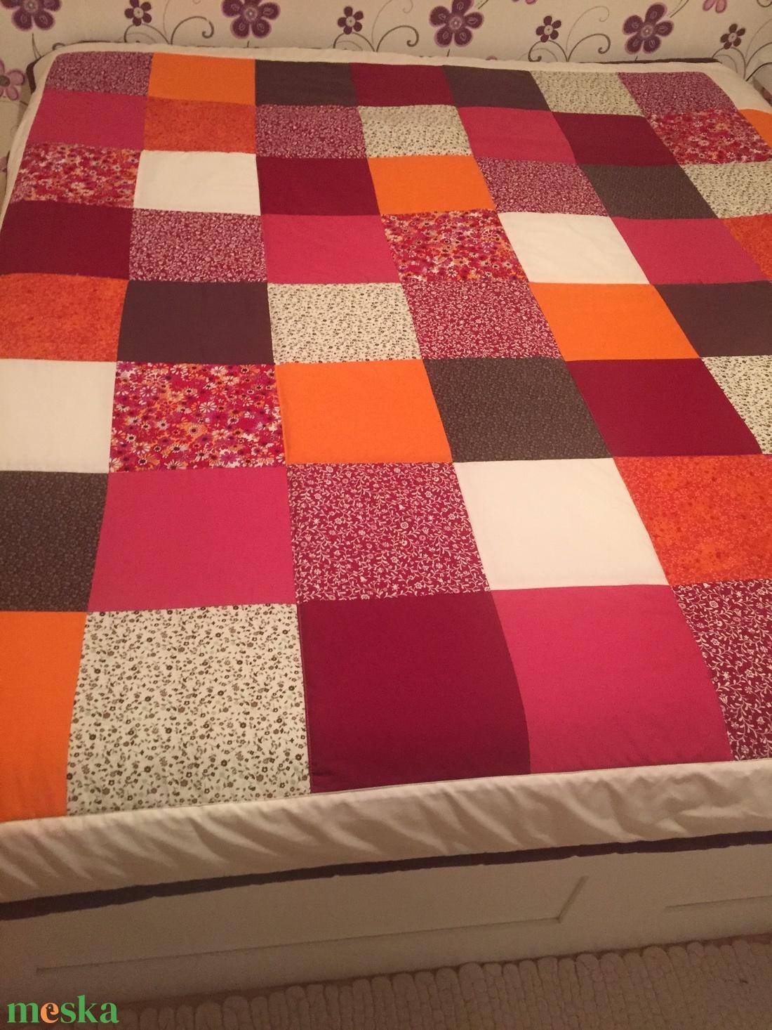 Country stílusú patchwork  ágytakaró - otthon & lakás - lakástextil - ágytakaró - Meska.hu