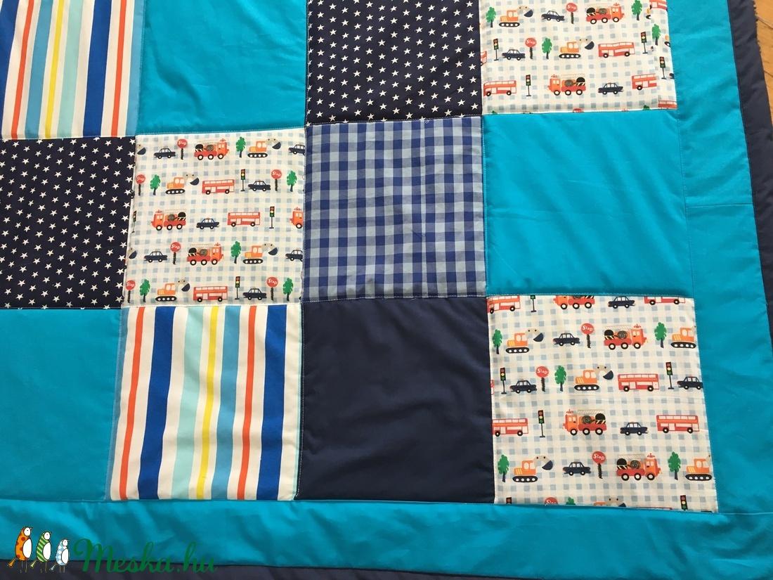 patchwork takaró fiúknak kockákból falvédő - otthon & lakás - lakástextil - takaró - Meska.hu