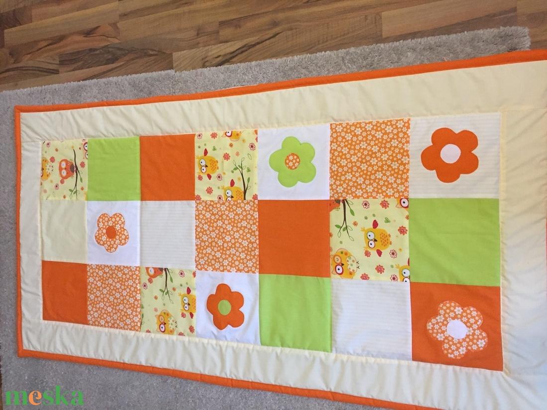 patchwork  takaró, falvédő bagoly mintás - otthon & lakás - lakástextil - falvédő - Meska.hu