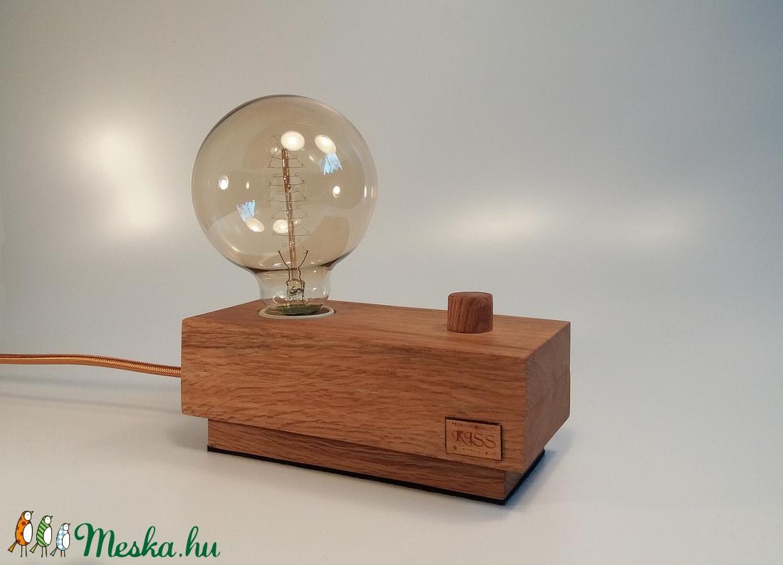 Hangulatos tölgyfa dekor lámpa, fényerőszabályzós   (KissDesignStudio) - Meska.hu