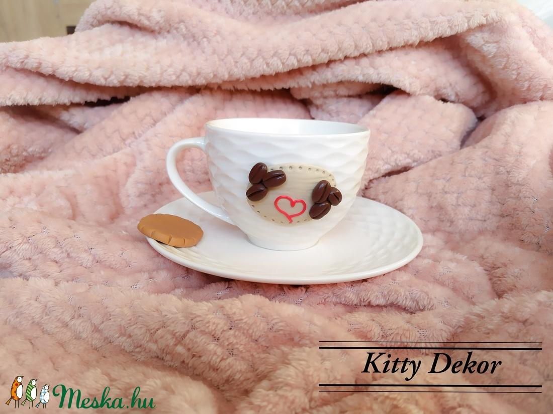 Kávés csésze szett (KittyDekor) - Meska.hu