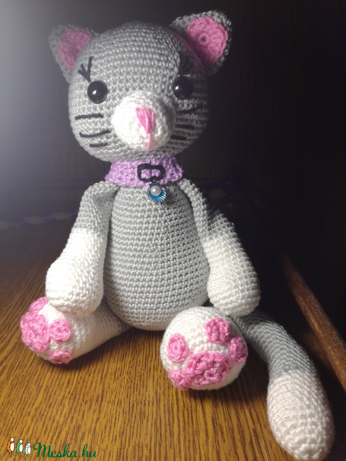 Szürke cica (kityom) - Meska.hu