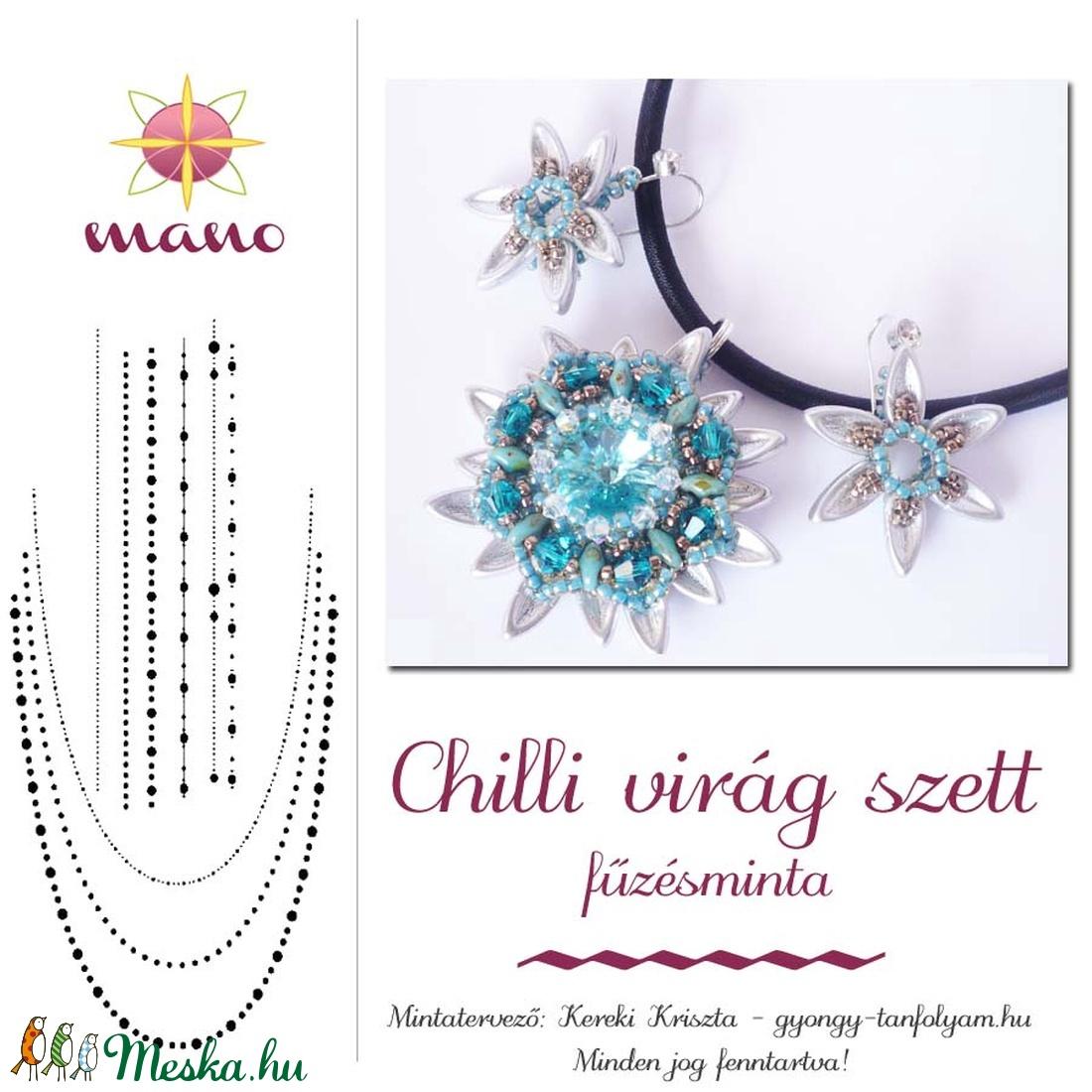 Chilli virág szett fűzésminta (KKriszta) - Meska.hu