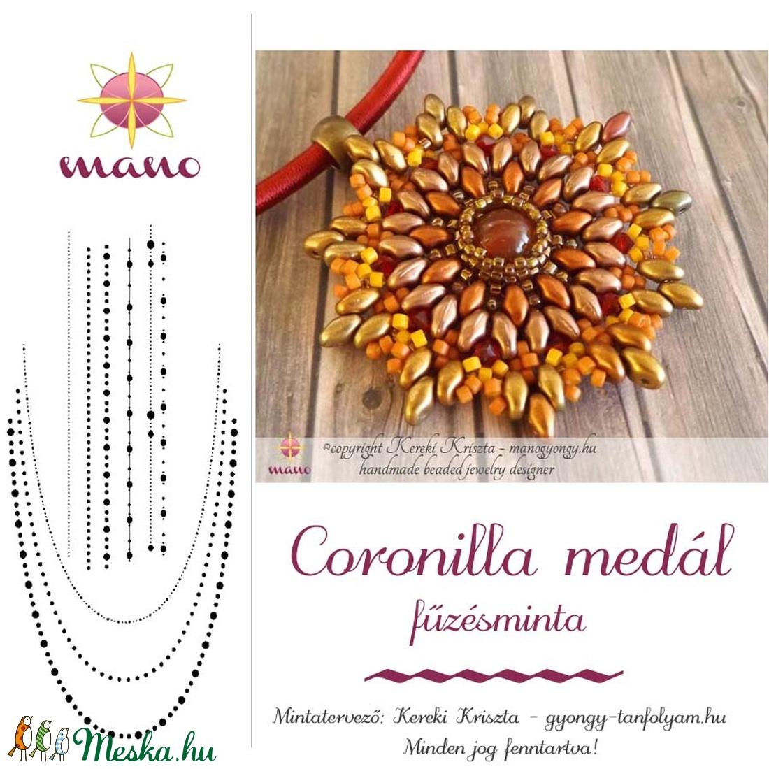 Coronilla medál fűzésminta (KKriszta) - Meska.hu