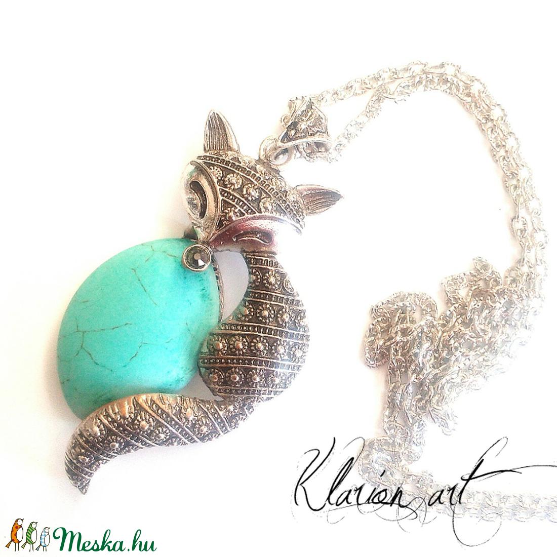 Macska nyaklánc (klarion) - Meska.hu