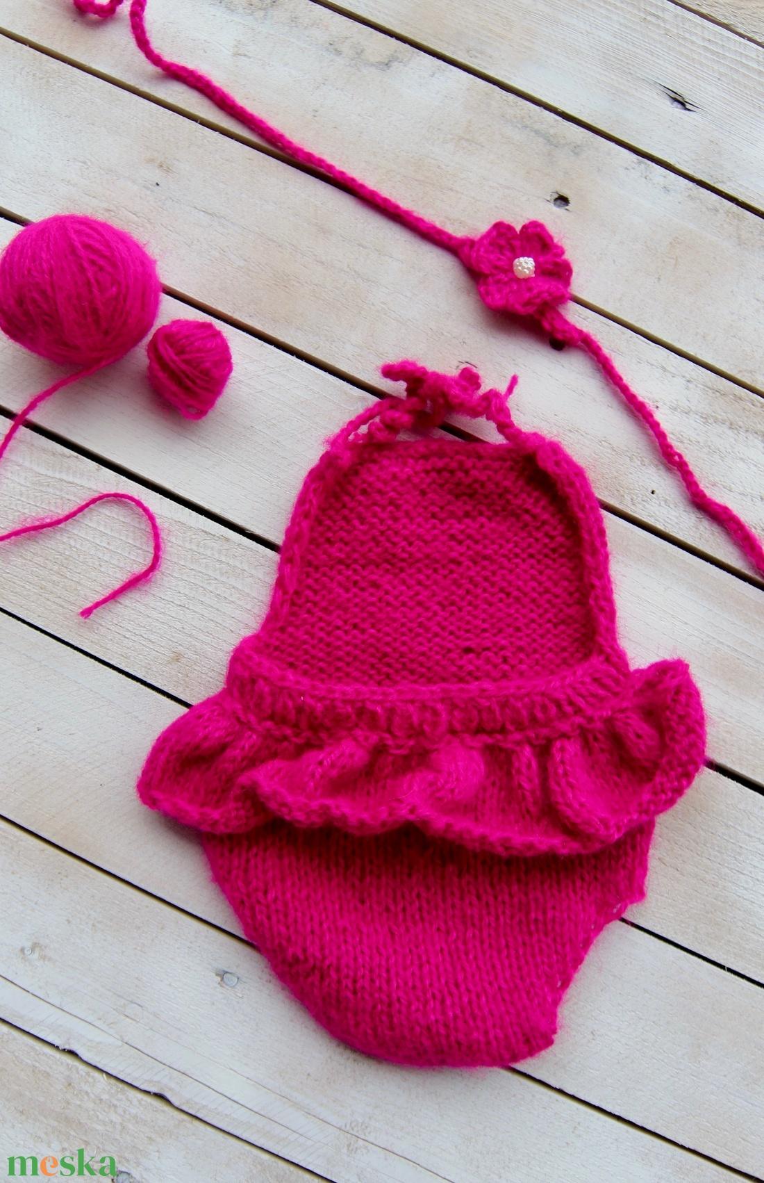 Pink body szett (2 részes) - ruha & divat - babaruha & gyerekruha - body - Meska.hu