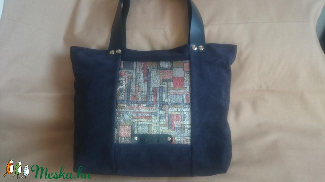 Bőrtáska kék metál kockás velúr kézitáska  válltáska  oldal táska  (kolibri7) - Meska.hu 99b5e49457