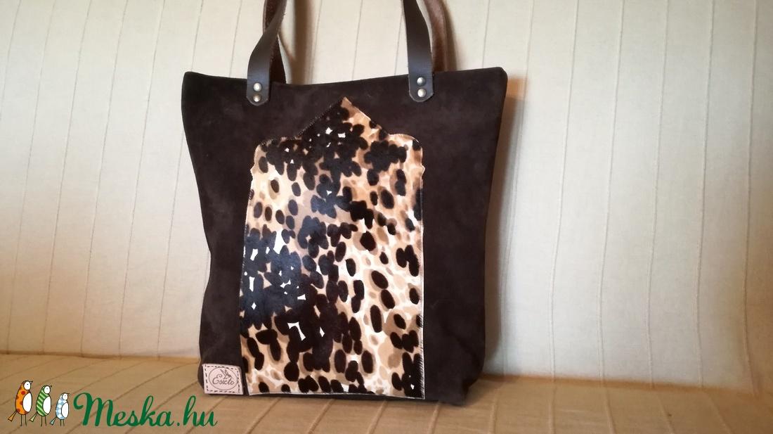e9a9a2343468 Bőrtáska barna leopárd mintás válltáska /oldal táska /kézitáska