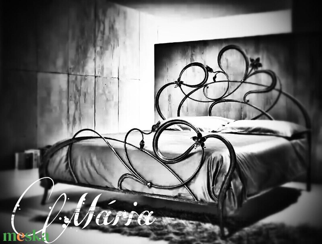 140x200 kovácsoltvas ágy keret (Mária ) - otthon & lakás - bútor - ágy - Meska.hu