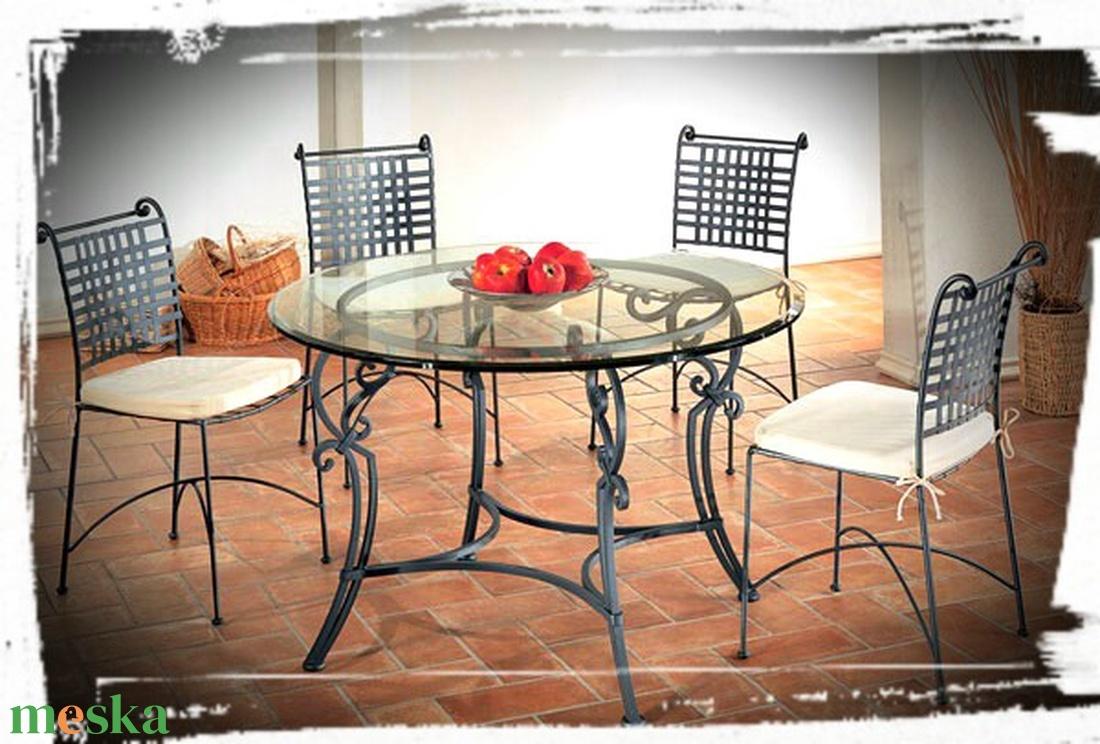 Kovácsolt asztal + 4db szék  - otthon & lakás - bútor - asztal - Meska.hu