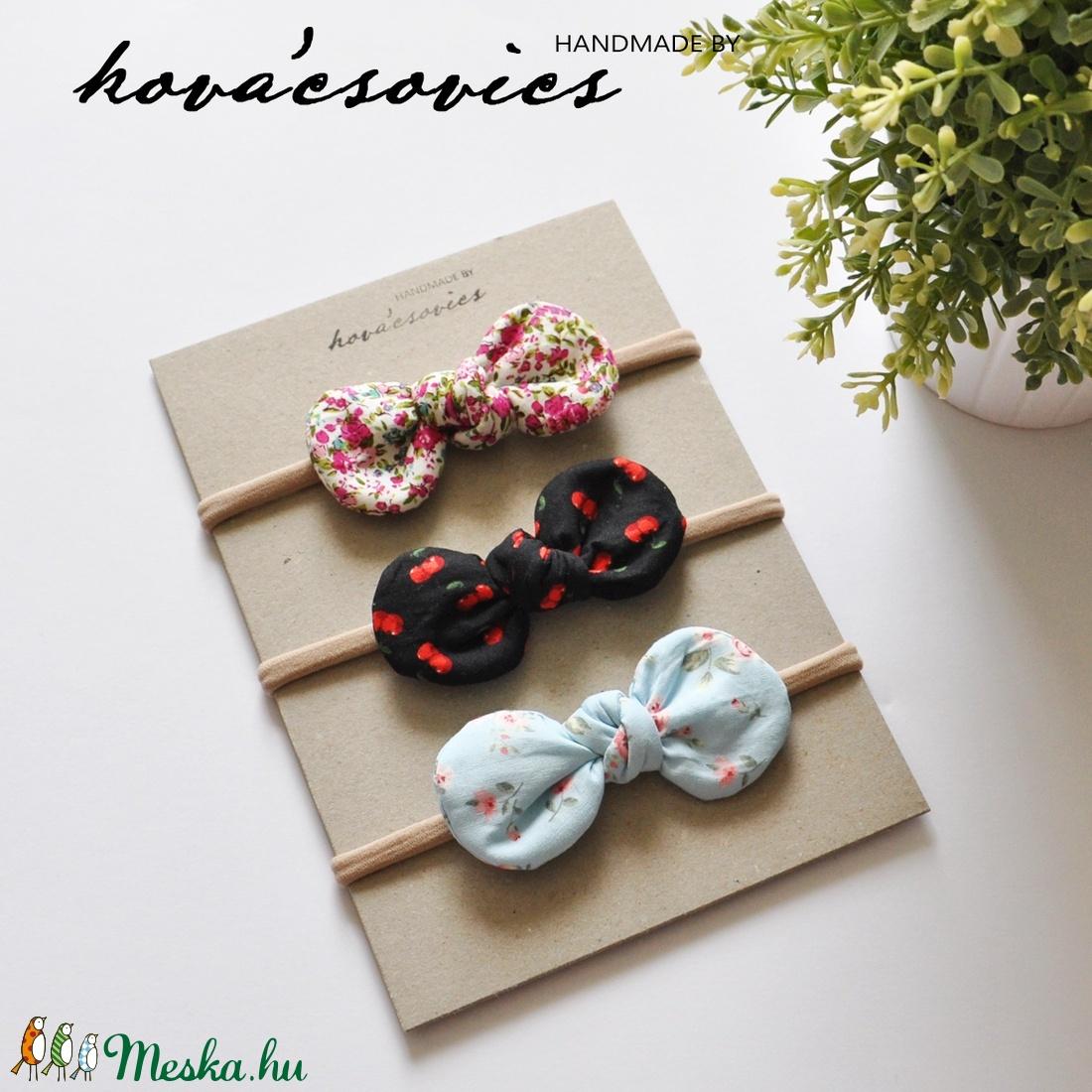 Újszülött kislány kezdő szett - Nyálkendő, nyuszifüles fogzókarika, masnis hajpánt - játék & gyerek - babalátogató ajándékcsomag - Meska.hu