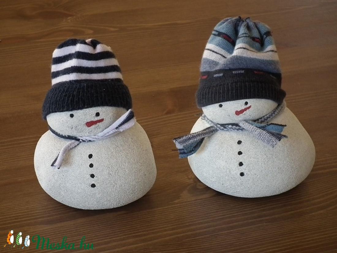 2 db hóember könnyűbetonból (KovirozsaDekor) - Meska.hu