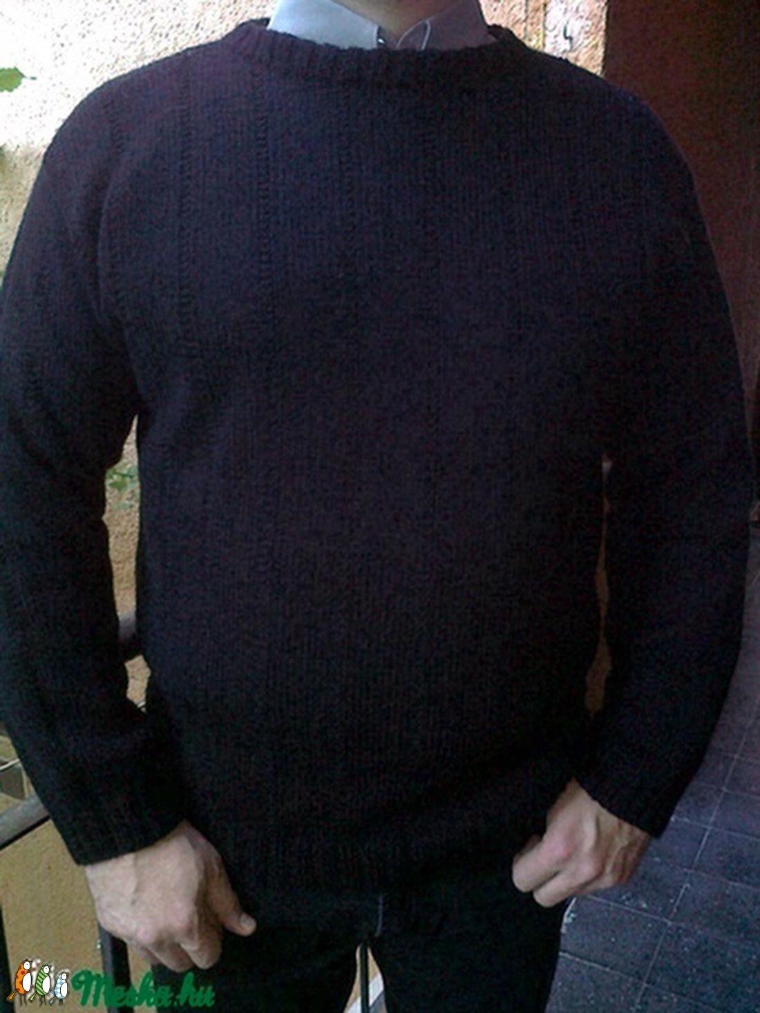 Kézzel kötött férfi pulóver (KreaCsilla) - Meska.hu 8034ef088a