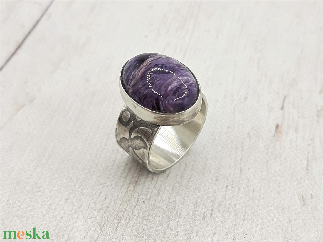Csaroit ezüst gyűrű  - ékszer - gyűrű - statement gyűrű - Meska.hu