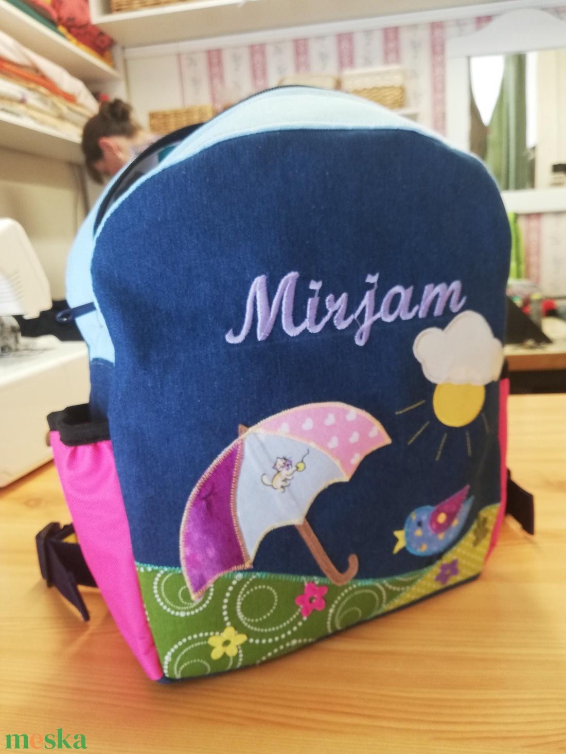 Mirjam mesés esernyős hátitáskája - táska & tok - hátizsák - kishátizsák - Meska.hu
