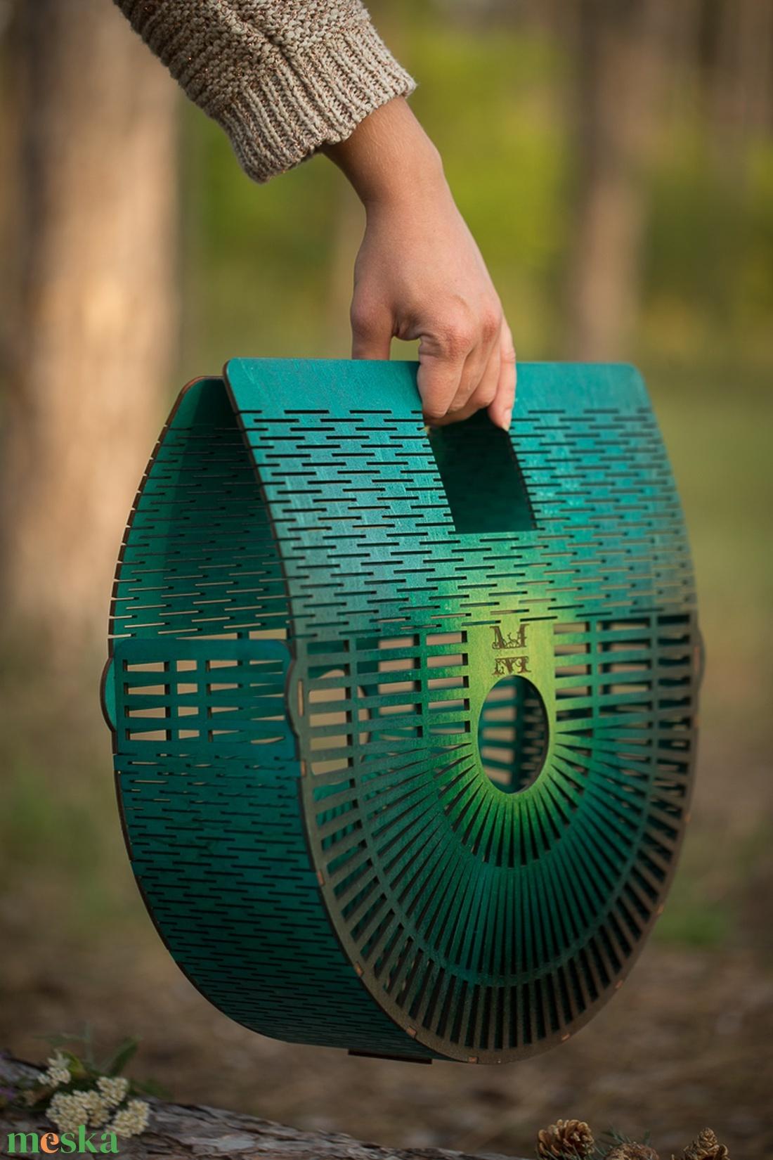 Sea sundown fa táska / egyedi gravirral is kérhető - táska & tok - kézitáska & válltáska - kézitáska - Meska.hu