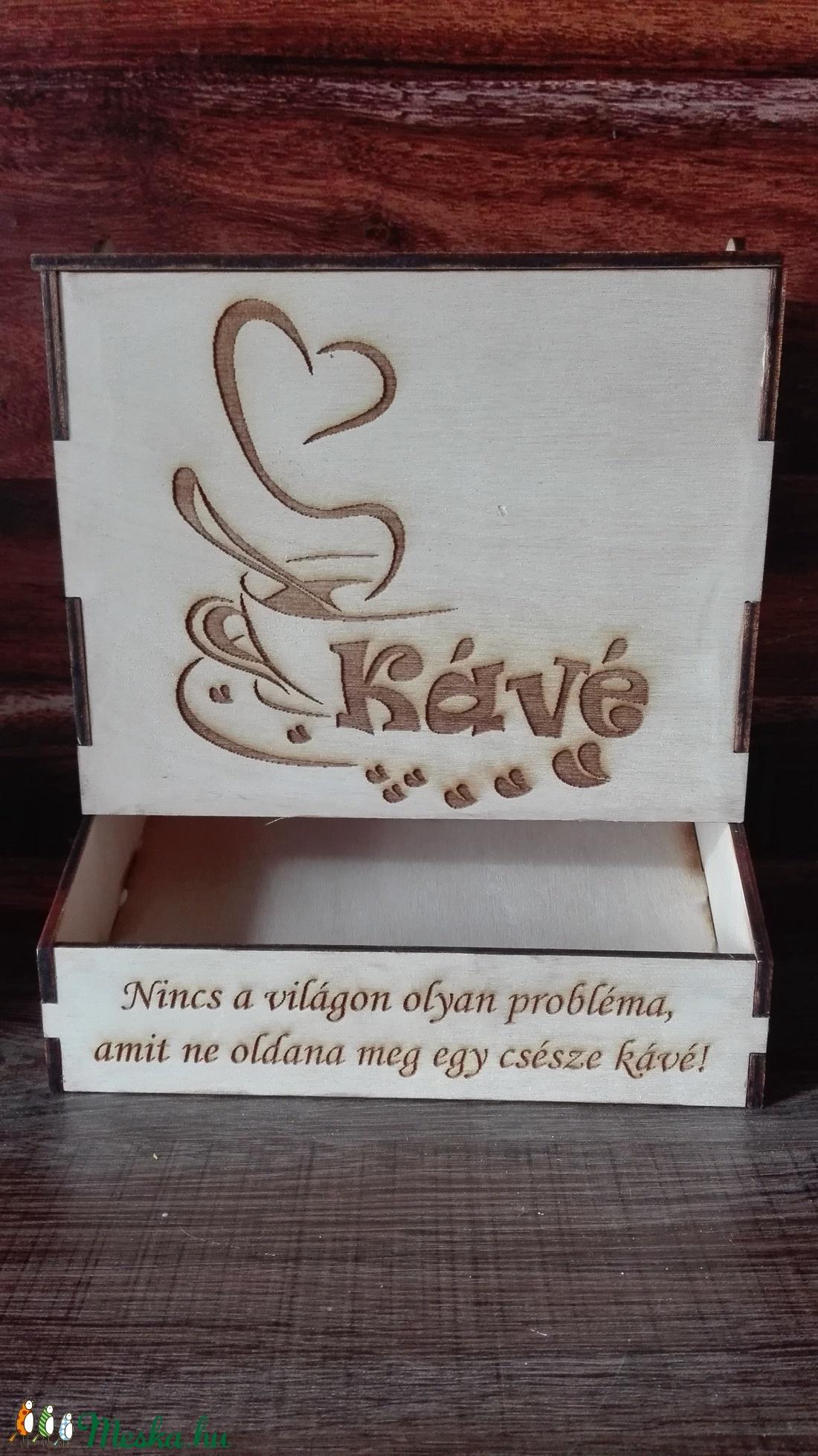 3 in 1 vagy 2in1 zacskós kávé tároló doboz (kreativajandek) - Meska.hu