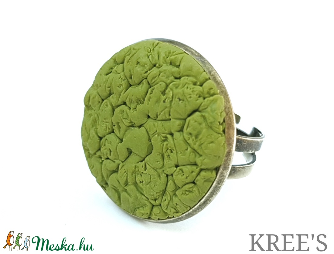 Zöld ékszergyurma gyűrű (KREES) - Meska.hu