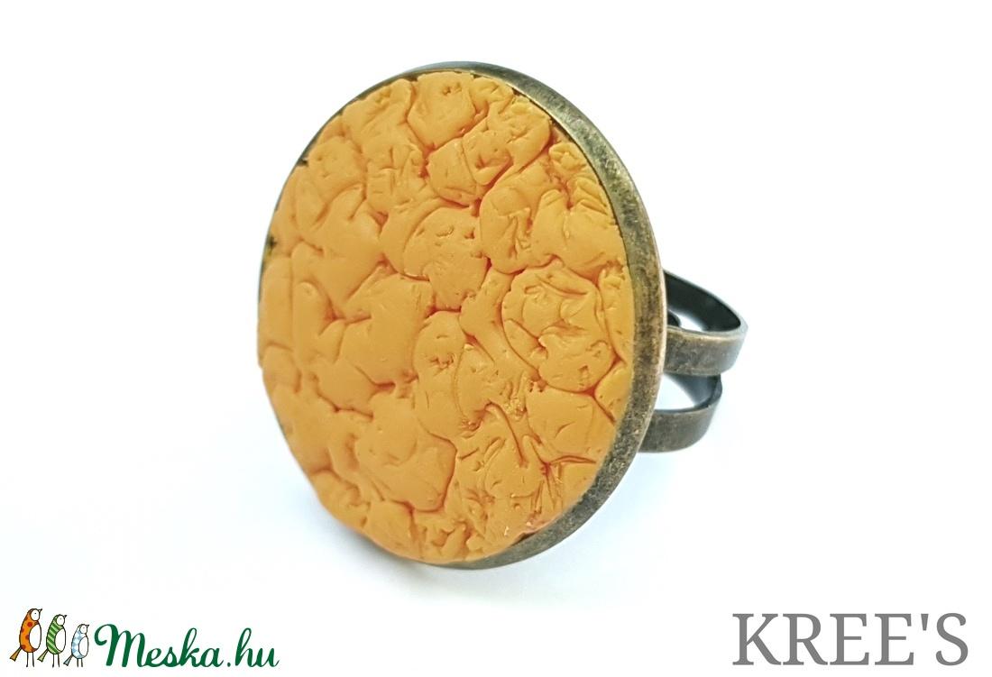 Sárga ékszergyurma gyűrű (KREES) - Meska.hu
