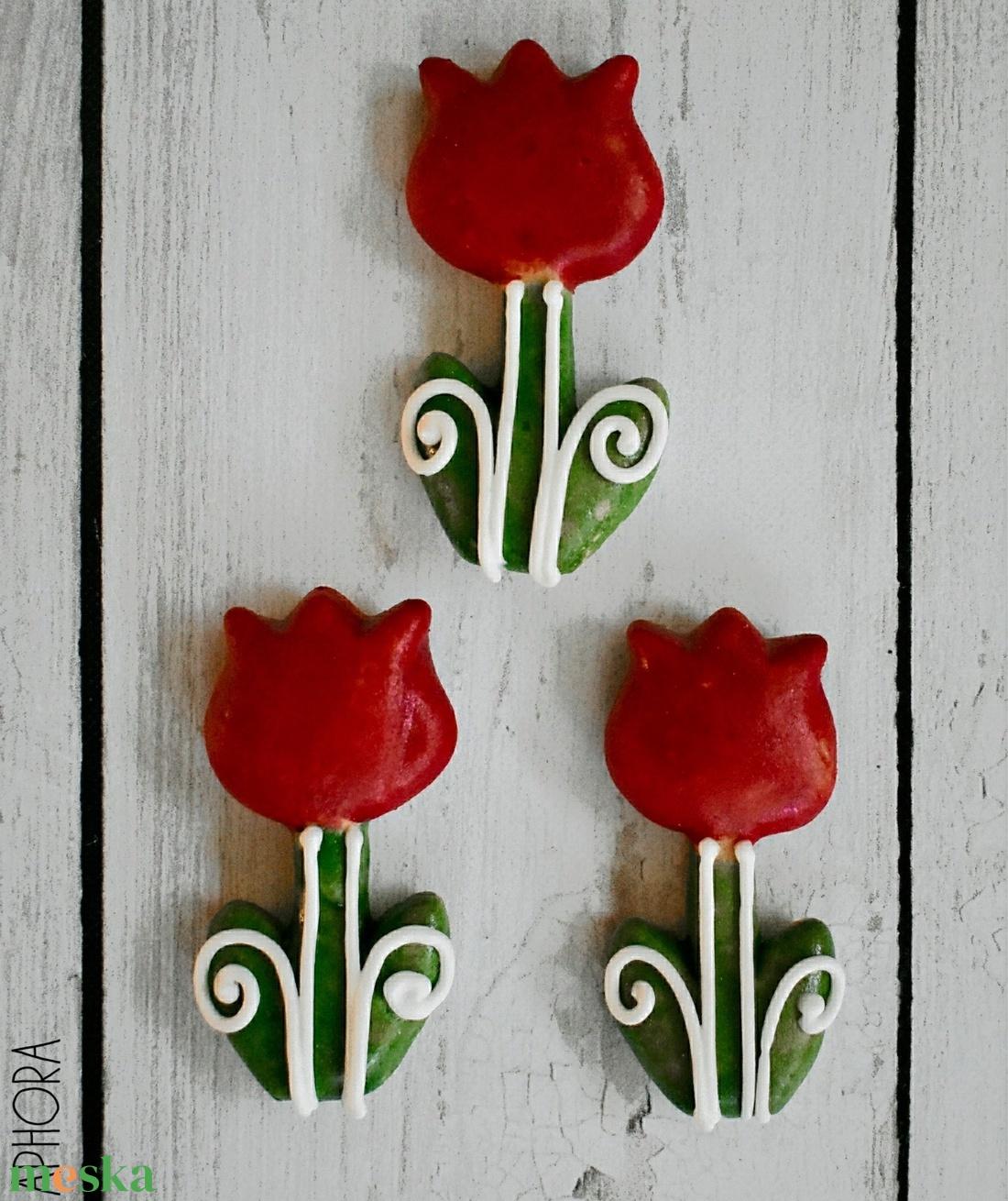 Mézeskalács mini tulipán (KRHandmadeJewel) - Meska.hu