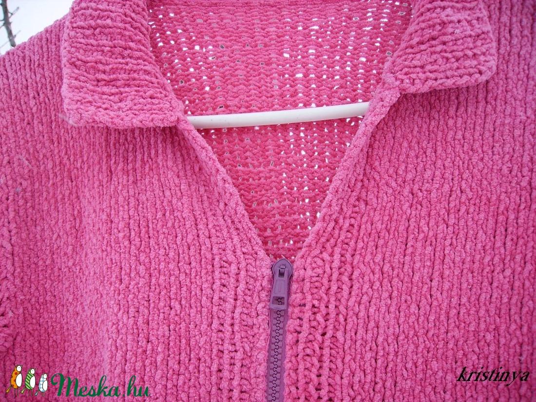 Pinky zsenília kardigán - ruha & divat - női ruha - pulóver & kardigán - Meska.hu
